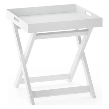Furinno Rolland Folding Tray Side Table, White