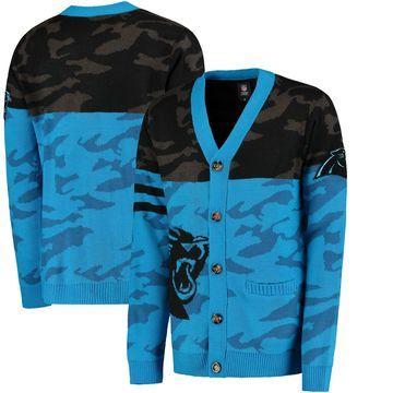 Carolina Panthers Klew Camouflage Cardigan - Black