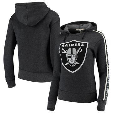 Oakland Raiders Junk Food Women's Sunday Liberty Pullover Hoodie - Charcoal