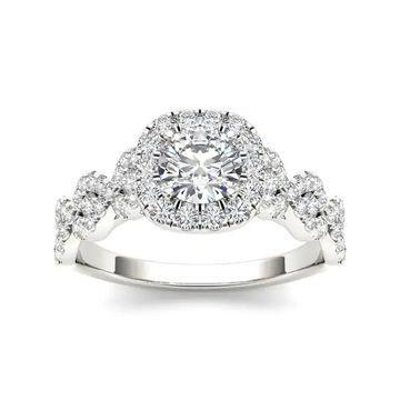 De Couer 14k Gold 1 1/4ct TDW Diamond Engagement Ring - White H-I