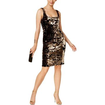 Bardot Womens Bodycon Dress Metallic Velvet