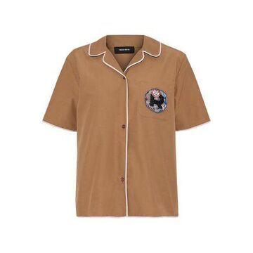 Rochas Appliqued Cotton-blend Shirt
