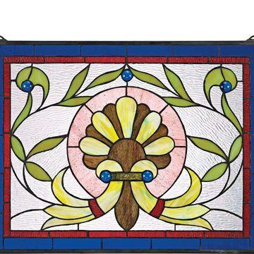 Design Toscano Bountiful Prairie Flower StainedGlass Window