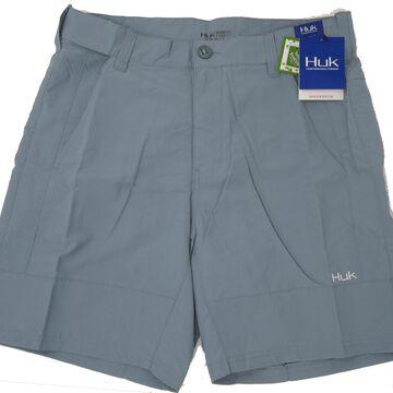 Huk Men's Rogue Silver Blue Size Large Adjustable Waistband Shorts