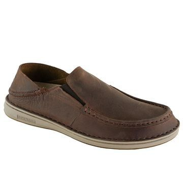 Birkenstock Men's Duma Leather Shoes - Middle Brown