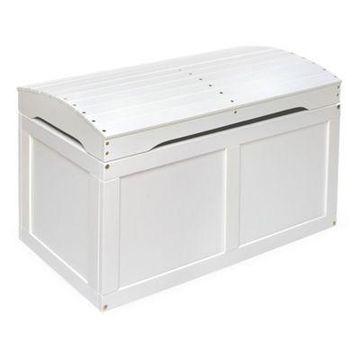Badger Basket Barrel Top Toy Box in White