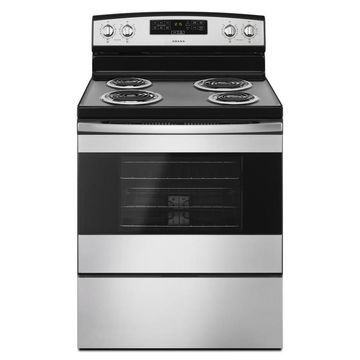 Amana 4 Elements 4.8-cu ft Freestanding Electric Range (Stainless Steel) (Common: 30-in; Actual: 29.88-in)
