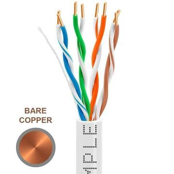 1300-N 1000 ft. 350MHz Cat5e Bulk In-Wall Cable 24 AWG Bare Copper - White