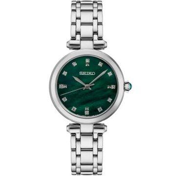 Seiko Women's Diamond (1/8 ct. t.w.) Stainless Steel Bracelet Watch 30mm