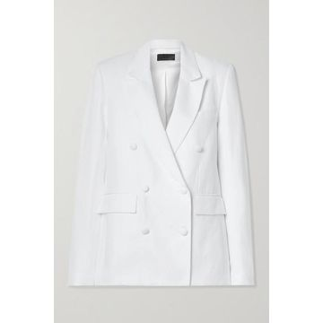 RtA - Clark Oversized Double-breasted Linen And Cotton-blend Twill Blazer - White