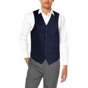 Marc New York Mens Suit Vest Wool Office - 38R
