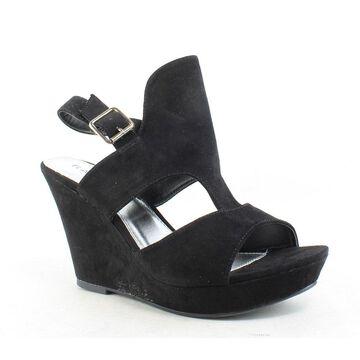 Rampage Womens Camillas Black Ankle Strap Heels Size 8.5