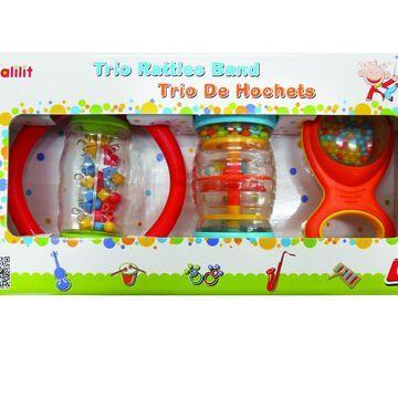 Baby Toy - Edushape - Trio Rattle Band New HL3005