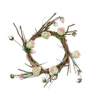 """11"""" Spring Floral Twig Wreath By Northlight 