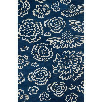 NOV0NV-06NVIV160S 1 ft. 6 in. x 1 ft. 6 in. Contemporary Nova Rug - Navy & Ivory