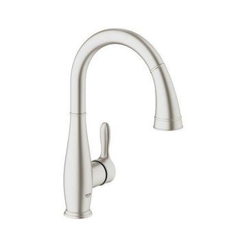 Grohe 30 213 Parkfield Pull-Down High-Arc Kitchen Faucet
