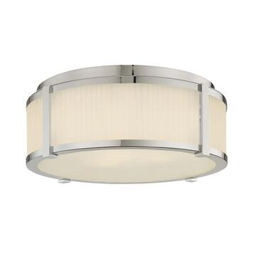 Sonneman Lighting Roxy 16 inch 3-Light Surface Mount (Polished nickel, Etched white)