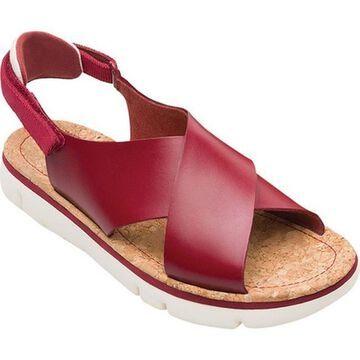 Camper Women's Oruga Platform Sandal Medium Red Leather