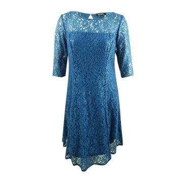 SL Fashions Women's Plus Size Sequined Lace A-Line Dress