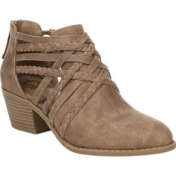 Fergalicious Women's Bunker Ankle Bootie Sand Oiled Fabric