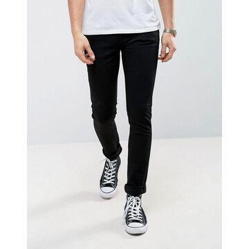 Nudie Jeans Co Skinny Lin skinny fit jeans in black