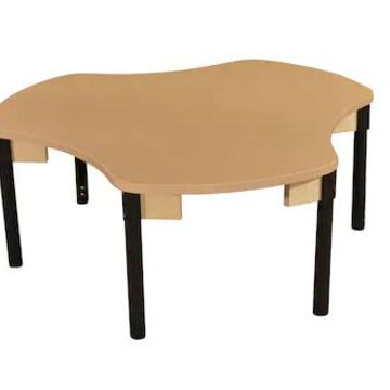 Wood Designs Synergy Union 44 x 48 High Pressure Laminate Group Table with Adjustable Legs 18-29 (HP | Quill