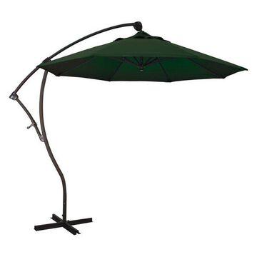 California Umbrella 9' Cantilever Umbrella in Hunter Green