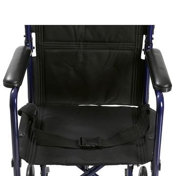 Drive Medical Lightweight Transport Wheelchair 19 Inch Black