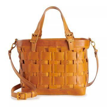 AmeriLeather Dorgon Latigo Leather Basket Handbag