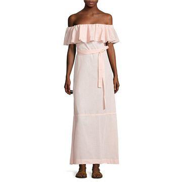 Lisa Marie Fernandez Womens Mira Sheer Flounce Dress