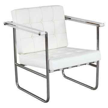 Fine Mod Imports Celona Chair, White