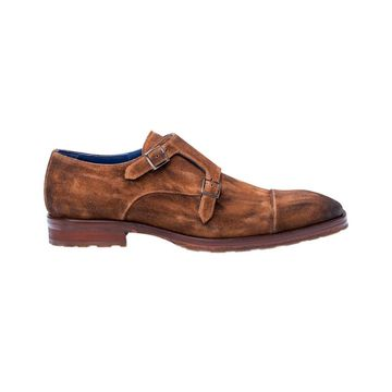 Mezlan Miguel Suede Double Monk Loafer