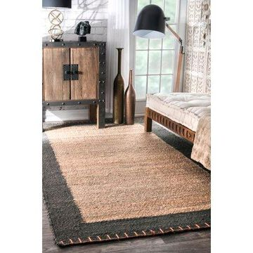 nuLOOM Hand Woven Cameron Jute Area Rug