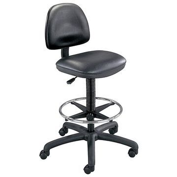 Safco Black Precision Vinyl Drafting Chair/ Foot Ring (Black)