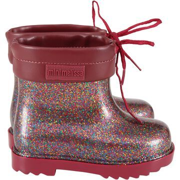 Melissa Red Boots For Girl With Logo