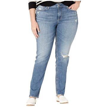 Silver Jeans Co. Plus Size Avery High-Rise Slim Leg Jeans in Indigo W94317SJL211 (Indigo) Women's Jeans