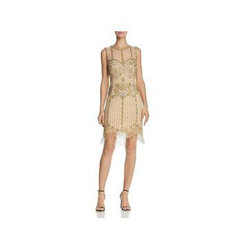 Aidan Mattox Womens Cocktail Dress Mini Sleeveless