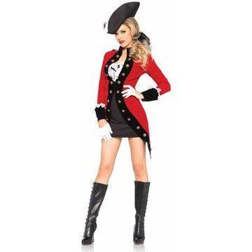 Leg Avenue Women's Military Rebel Red Coat Soldier Costume