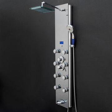 AKDY 52-in Stainless Steel 8-Spray Shower Panel System