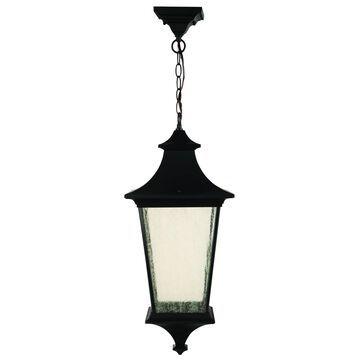 "Craftmade Argent Ii 24"" Outdoor Hanging Light in Midnight"