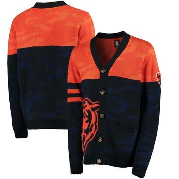Chicago Bears Klew Camouflage Cardigan - Navy