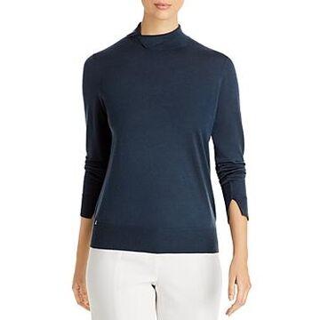 Lafayette 148 New York Folded Stand Collar Sweater