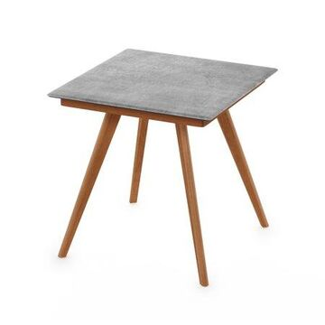 Furinno Redang Outdoor 4-Leg Square Smart Top Table, Cement
