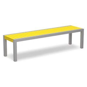 Polywood MOD Bench, Textured Silver/Lemon