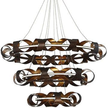 Eurofase Banderia LED 3-Tier Chandelier - Color: Bronze - 30082-014