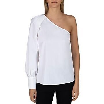 Derek Lam 10 Crosby Elodie Cotton One Shoulder Blouse