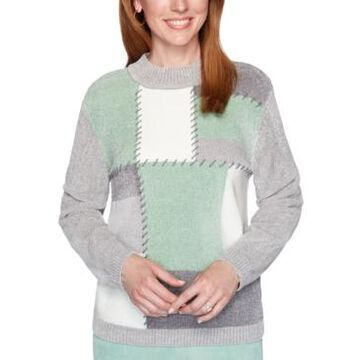 Alfred Dunner Lake Geneva Patchwork Chenille Sweater