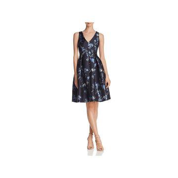 Eliza J Womens Cocktail Dress Sleeveless Metallic