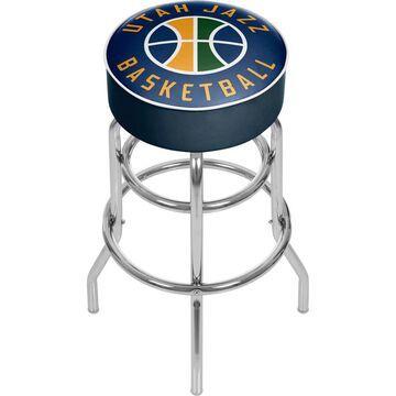Trademark Gameroom Utah Jazz Bar Stools Chrome Bar height (27-in to 35-in) Upholstered Swivel Bar Stool | NBA1000-UJ