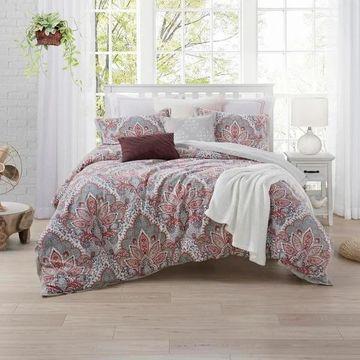 Ellen Tracy Upton Park 3-Piece Premium Cotton Duvet Cover Set - Multi